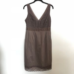 Anthropologie | Purple Cotton Lace V-Neck Dress